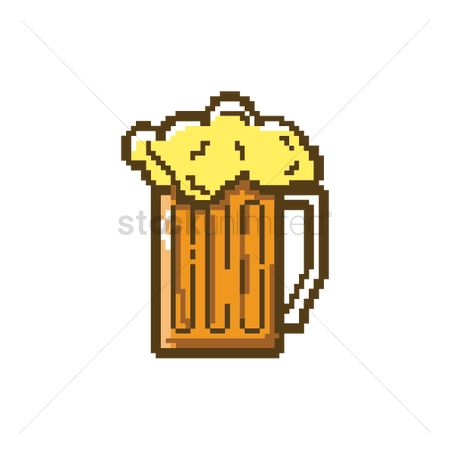 Pub : Pixel art glass of beer