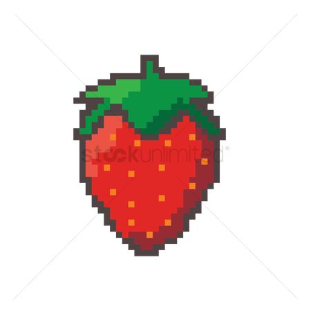Nutritions : Pixel art strawberry