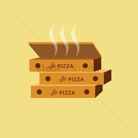 Unhealthy eating : Pizza boxes
