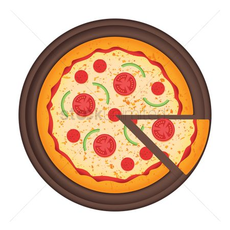 Topping : Pizza in plate