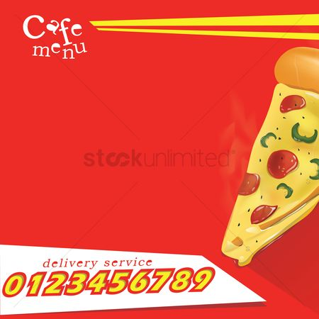 Pizza delivery : Pizza menu template