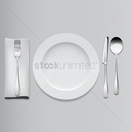 Plates : Plate and cutlery