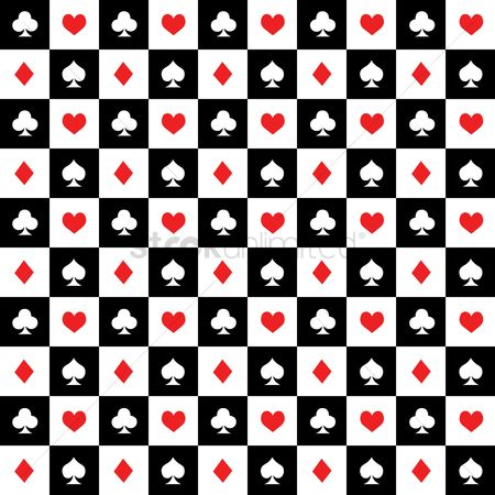 Casinos : Playing cards background