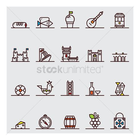 Flour : Portugal icons