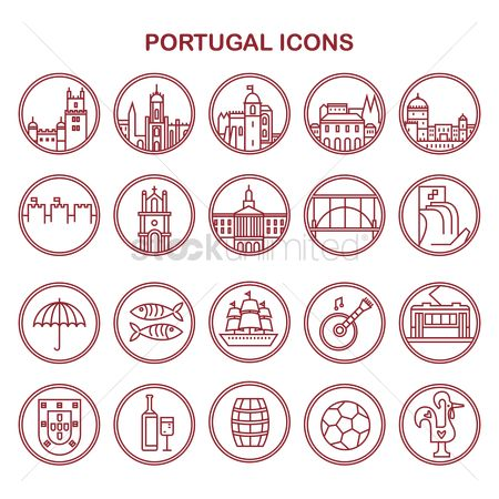 Footballs : Portugal icons
