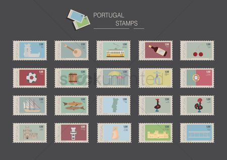 Footballs : Portugal stamps