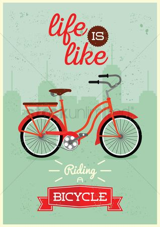 Bicycles : Positive quote design