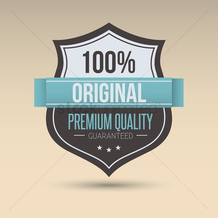 Shield : Premium quality label