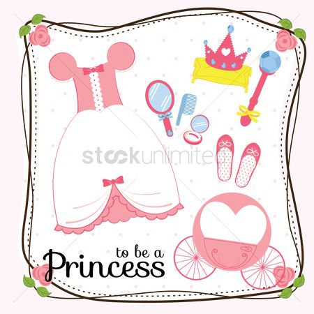 Crown : Princess accessories card