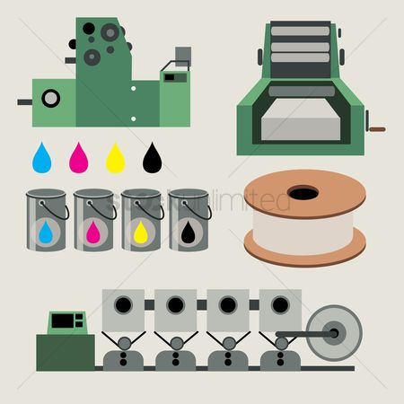Production : Printer and printing concept