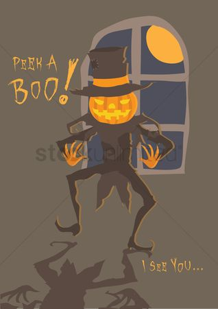 Jack o lantern : Pumpkin man wallpaper