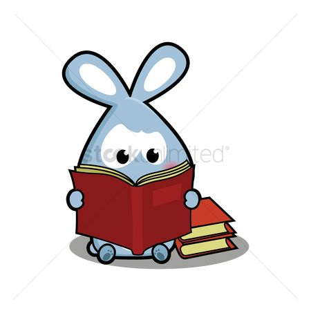 Readings : Rabbit reading a book