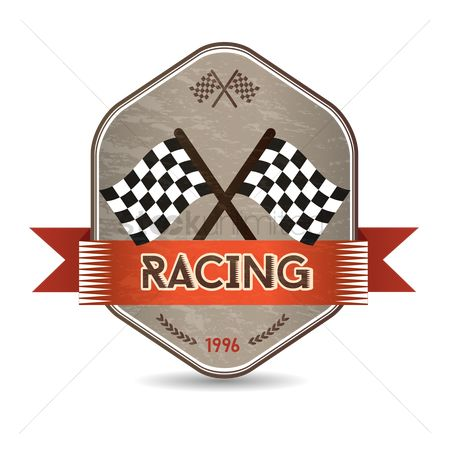 Race : Race flag label