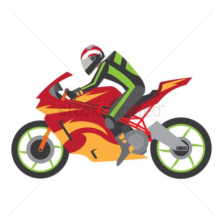 Motorcycles : Racer on a race bike