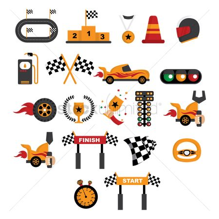 Medal : Racing themed vectors