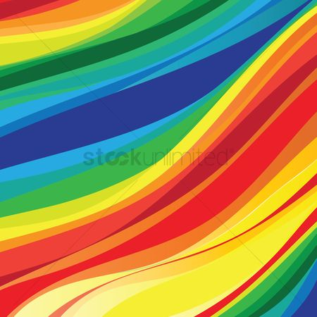 Multicolor : Rainbow wave background