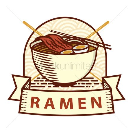 Japanese cuisines : Ramen label