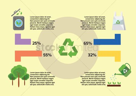 Recycle bin : Recycling infographic
