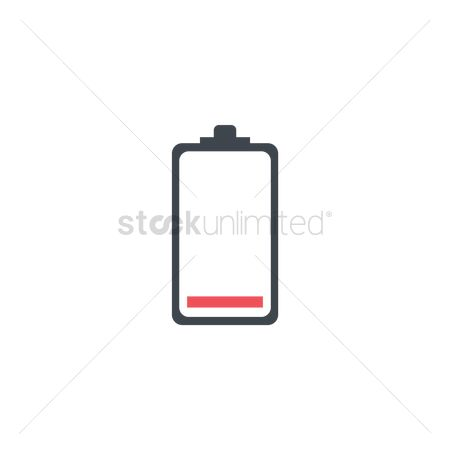 Charging icon : Red battery level indicator icon