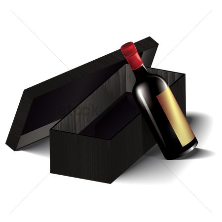 Red wines : Red wine bottle with box
