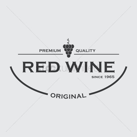 Red wine : Red wine label