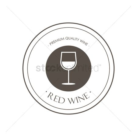 Red wines : Red wine label