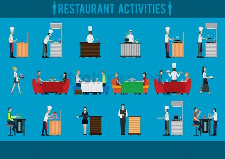 Drinking : Restaurant activities set