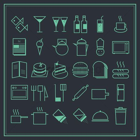Teapot : Restaurant icons set