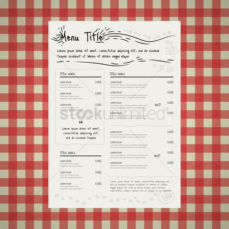 Dishes : Restaurant menu card