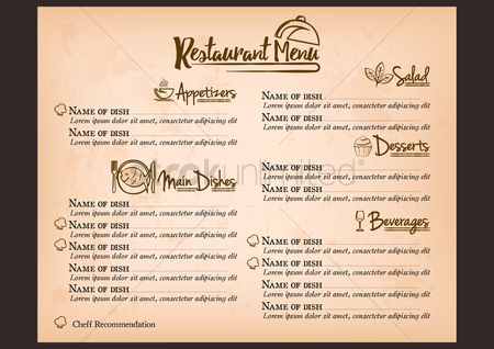 Dishes : Restaurant menu concept