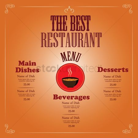 Main : Restaurant menu design