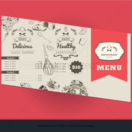 Dishes : Restaurant menu template design