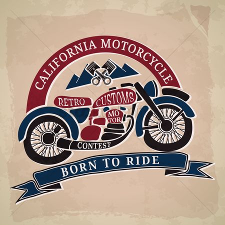 Old fashioned : Retro customs motor contest