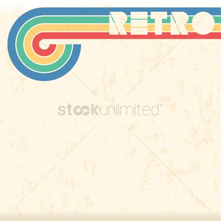 Flow : Retro design background
