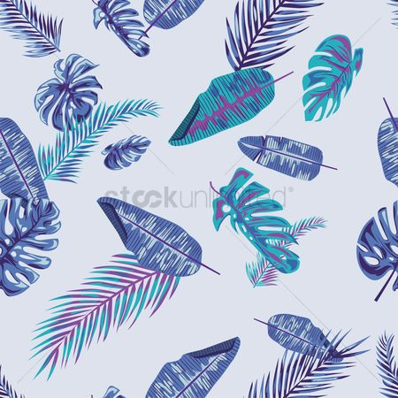 Vintage : Retro leaves design