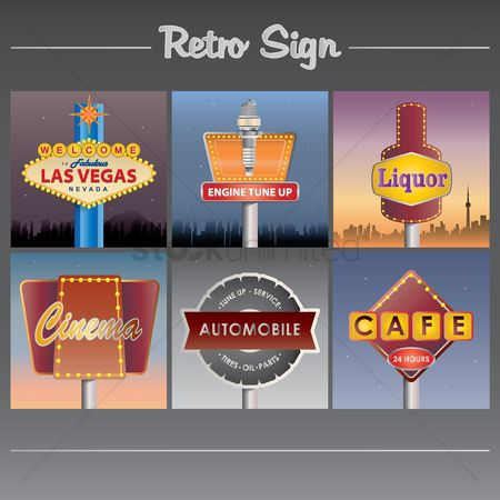 Oldfashioned : Retro sign