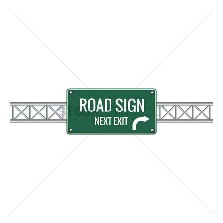 Attention : Road sign next exit