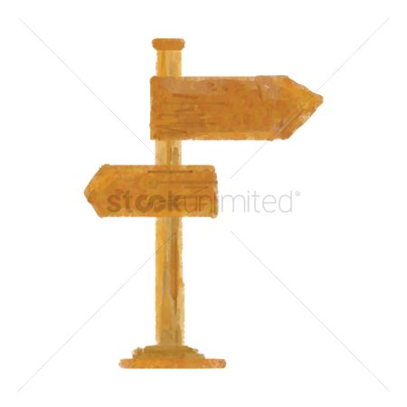 Wooden sign : Road sign