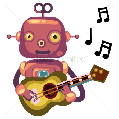 Mechanicals : Robot playing the guitar