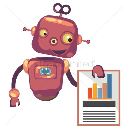 Mechanicals : Robot with business report