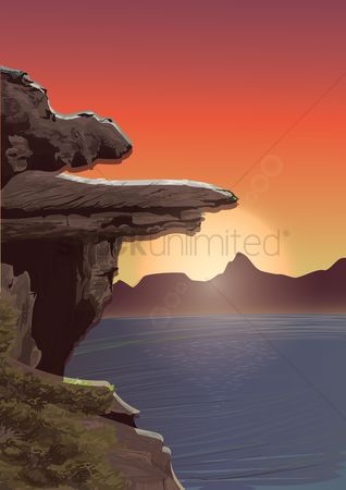 Mountains : Rock cliff