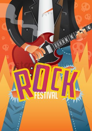 Commercials : Rock festival poster design