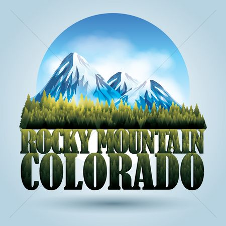 State : Rocky mountain colorado poster