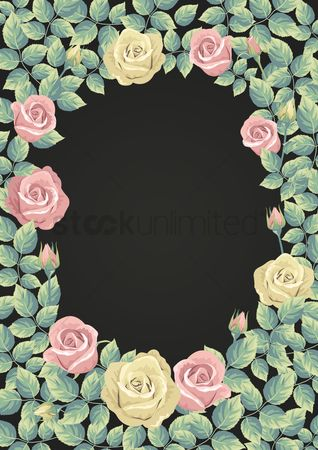 Budding : Rose border poster design