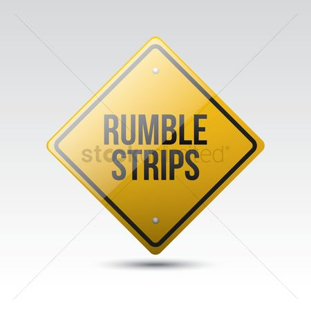 Roadsigns : Rumble strips sign