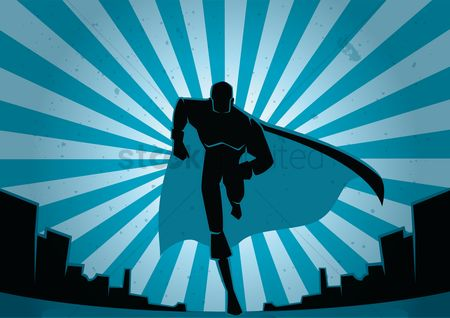 Copyspaces : Running superhero