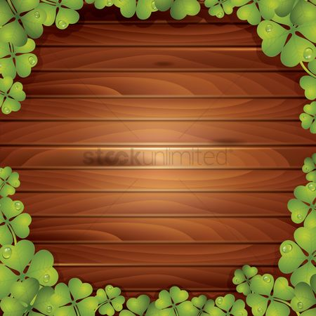 Wooden sign : Saint patricks day background design