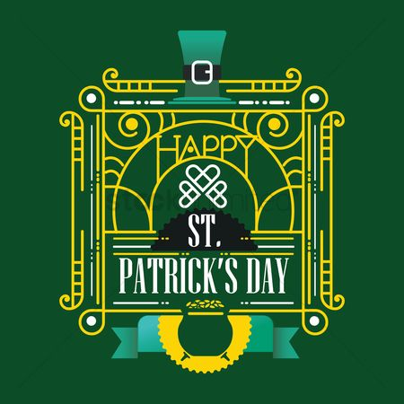 Typographics : Saint patricks day greeting