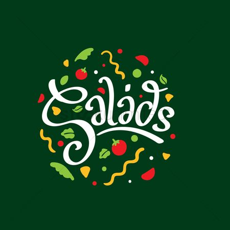 Greens : Salads menu design