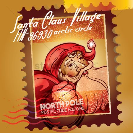 Santa : Santa clause stamp